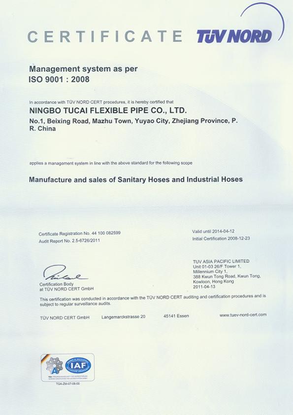 Certification Tucai